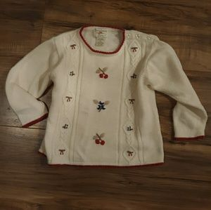 Girls Vintage Strawberry FaireSweater. Size 4T